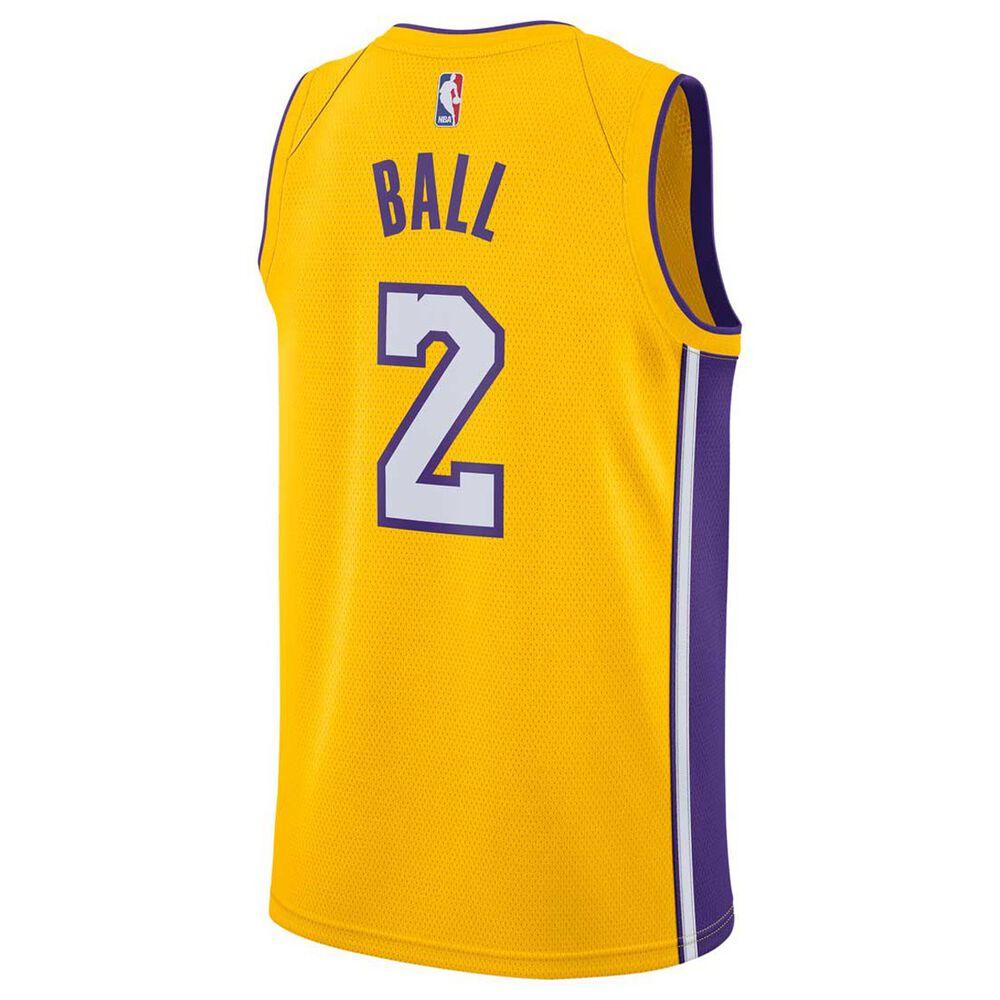 Nike Los Angeles Lakers Lonzo Ball 2018 Mens Swingman Jersey Amarillo    Field Purple S 1e4434d56
