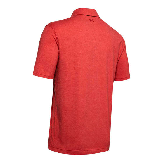 Under Armour Mens Charged Cotton Scramble Polo Shirt Red S, Red, rebel_hi-res