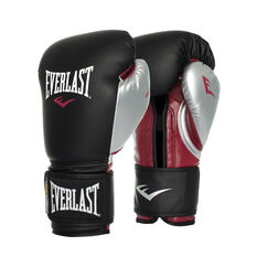 Everlast Pro Powerlock Training Boxing Gloves Black 12oz, Black, rebel_hi-res