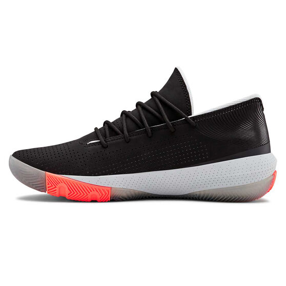Under Armour SC 3ZERO III Mens Basketball Shoes, Black / Grey, rebel_hi-res