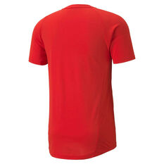 Puma Mens Evostripe Training Tee Red S, Red, rebel_hi-res