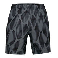 Under Armour Mens Launch 7in Printed Shorts Grey S, Grey, rebel_hi-res