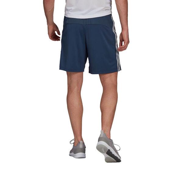 adidas Mens 3 Stripe Shorts, Navy, rebel_hi-res
