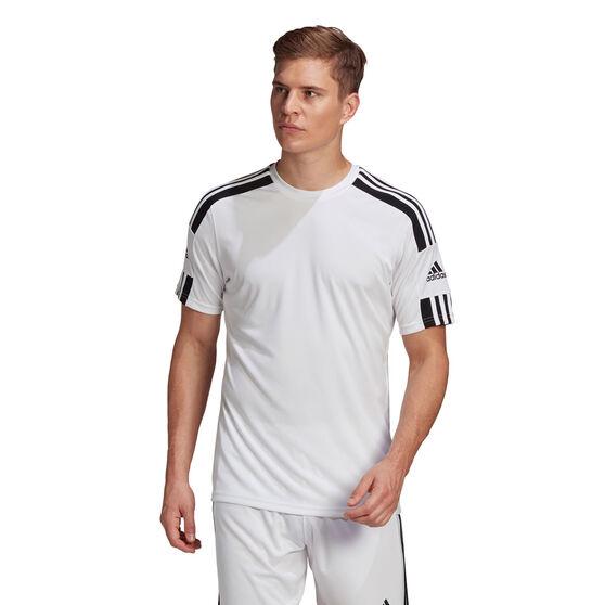 adidas Mens Squadra 21 Jersey, White, rebel_hi-res