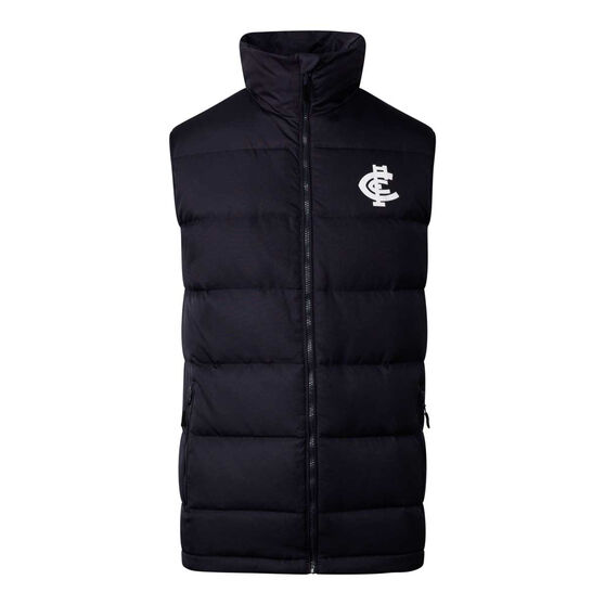 Carlton Blues 2020 Mens Down Vest, Black, rebel_hi-res