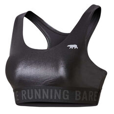 Running Bare Womens Firestarter Crop Top Black 8, Black, rebel_hi-res