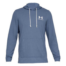 Under Armour Mens Sportstyle Terry Hoodie Blue XS, Blue, rebel_hi-res
