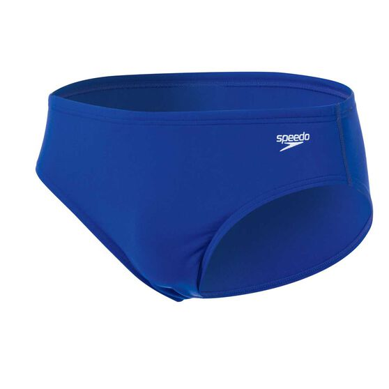 Speedo Mens 8cm Endurance Swim Briefs, Blue, rebel_hi-res