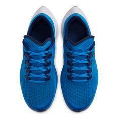 Nike Air Zoom Pegasus 37 Kids Running Shoes Blue / White US 1, Blue / White, rebel_hi-res