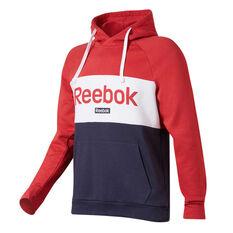 Reebok Mens Training Essentials Linear Logo Hoodie Red S, Red, rebel_hi-res