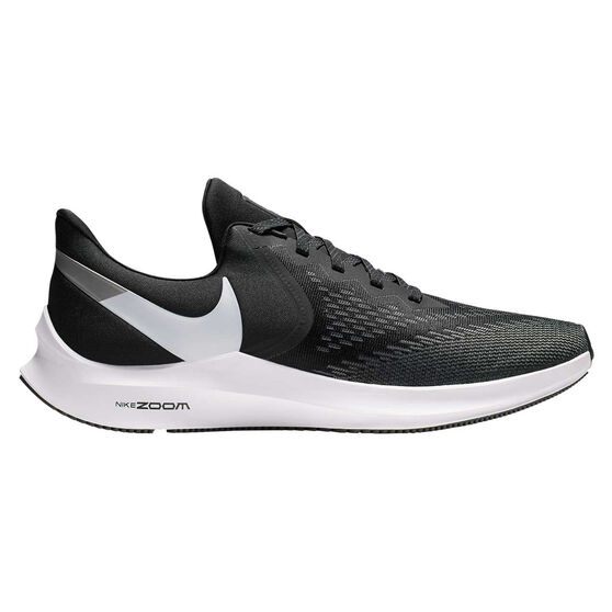 Nike Air Zoom Winflo 6 Mens Running Shoes, Black / White, rebel_hi-res