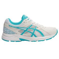 Asics Gel Contend 3 Womens Running Shoes White / Blue US 6, White / Blue, rebel_hi-res