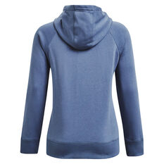 Under Armour Womens Rival Fleece Logo Hoodie Blue XS, Blue, rebel_hi-res