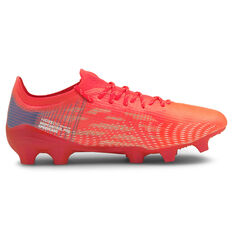 Puma Ultra 1.3 Football Boots Red/White US Mens 7 / Womens 8.5, Red/White, rebel_hi-res