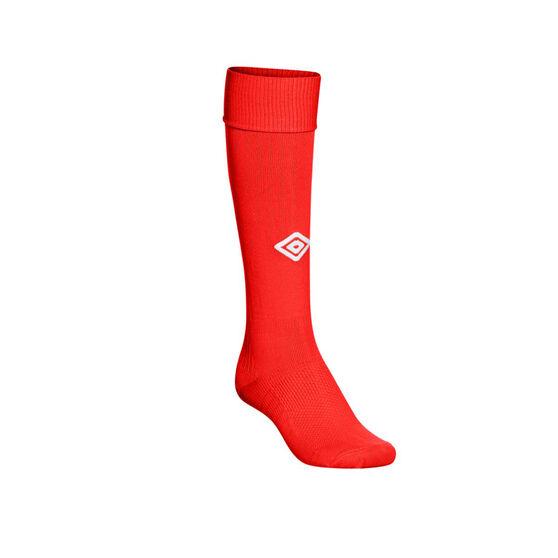 Umbro Mens Velocity League Socks, Red, rebel_hi-res