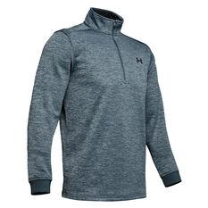 Under Armour Mens Armour Fleece 1/2 Zip Jacket Grey XS, Grey, rebel_hi-res