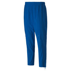 Puma x First Mile Mens Mono Training Pants Blue S, Blue, rebel_hi-res