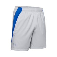 Under Armour Mens Launch 7in Shorts Grey S, Grey, rebel_hi-res