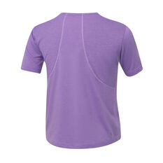 Ell & Voo Girls Jordan Relaxed Mesh Back Tee Purple 6, Purple, rebel_hi-res
