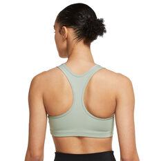 Nike Womens Swoosh Medium Support Sports Bra Green XS, Green, rebel_hi-res