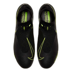 Nike Phantom Vision Elite Dynamic Fit Football Boots, Black / Yellow, rebel_hi-res
