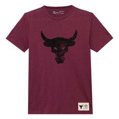 Under Armour Boys Project Rock Brahma Bull Tee Purple XS, Purple, rebel_hi-res