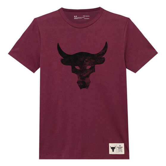 Under Armour Boys Project Rock Brahma Bull Tee, Purple, rebel_hi-res