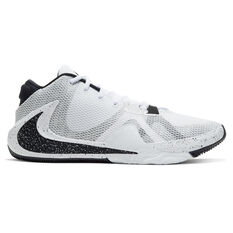 Nike Zoom Freak 1 Mens Basketball Shoes, White/Black, rebel_hi-res