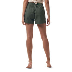 Ell & Voo Womens Meadow Relaxed Fit Shorts Thyme XS, Thyme, rebel_hi-res