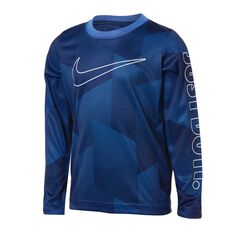 Nike Boys Just Do It Micro Dri-FIT Long Sleeve Tee Royal Blue 4, Royal Blue, rebel_hi-res
