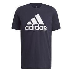 adidas Essentials Mens Big Logo Tee Navy S, , rebel_hi-res