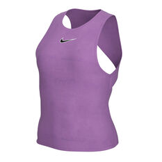 NikeCourt Womens Tennis Tank Purple XS, Purple, rebel_hi-res