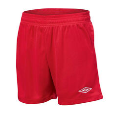 Umbro League Kids Football Shorts Red XS, Red, rebel_hi-res