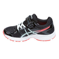 Asics Gel Contend 4 Junior Girls Running Shoes Black / Pink 11, Black / Pink, rebel_hi-res