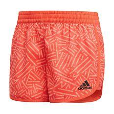 adidas Girls Training Marathon Shorts Coral 6, Coral, rebel_hi-res