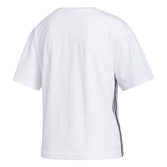 adidas Womens Must Haves 3-Stripes Tee, White, rebel_hi-res
