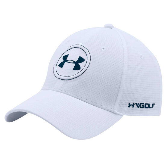 Under Armour Mens Jordan Spieth Tour Cap White M / L, White, rebel_hi-res
