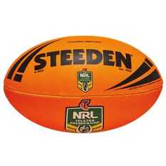 Steeden NRL Fluoro Replica Rugby League Ball Orange 11in, , rebel_hi-res