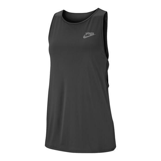 Nike Womens Yoga Training Tank Black XS, Black, rebel_hi-res