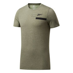 Reebok Mens ACTIVCHILL + Cotton Training Tee Green S, Green, rebel_hi-res