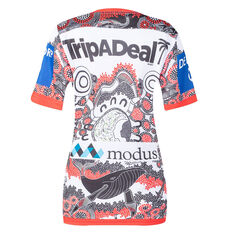 St George Illawarra Dragons 2021 Womens Indigenous Jersey White/Red 8, White/Red, rebel_hi-res