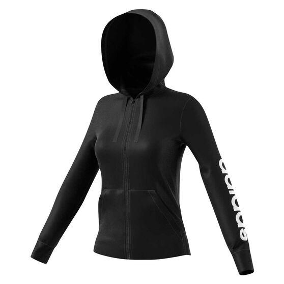 adidas Womens Essential Linear Full Zip Hoodie, , rebel_hi-res