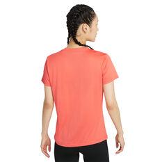 Nike Womens Dri-FIT Legend Training Tee Orange XS, Orange, rebel_hi-res
