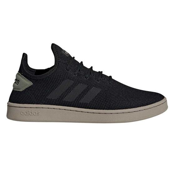 adidas Court Adapt Mens Casual Shoes, Black/Green, rebel_hi-res