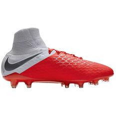 Nike Hypervenom Phantom III Pro Dynamic Fit Mens Football Boots Red / Grey US 7, Red / Grey, rebel_hi-res