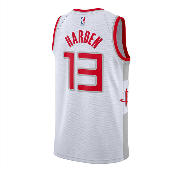 Nike Houston Rockets James Harden 2019/20 Mens City Edition Swingman Jersey, White / Red, rebel_hi-res