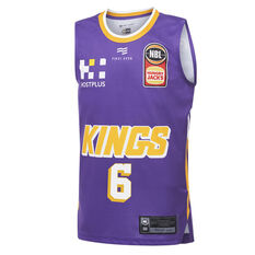 Sydney Kings Andrew Bogut 2019/20 Kids Home Jersey Purple 14, Purple, rebel_hi-res