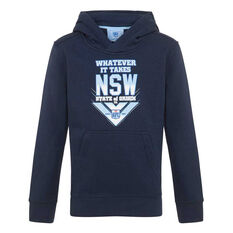 NSW Blues State of Origin 2020 Kids Whatever It Takes Hoodie Navy 8, Navy, rebel_hi-res