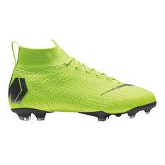 Nike Mercurial Superfly VI Elite Junior Football Boots Volt / Black US 4, Volt / Black, rebel_hi-res
