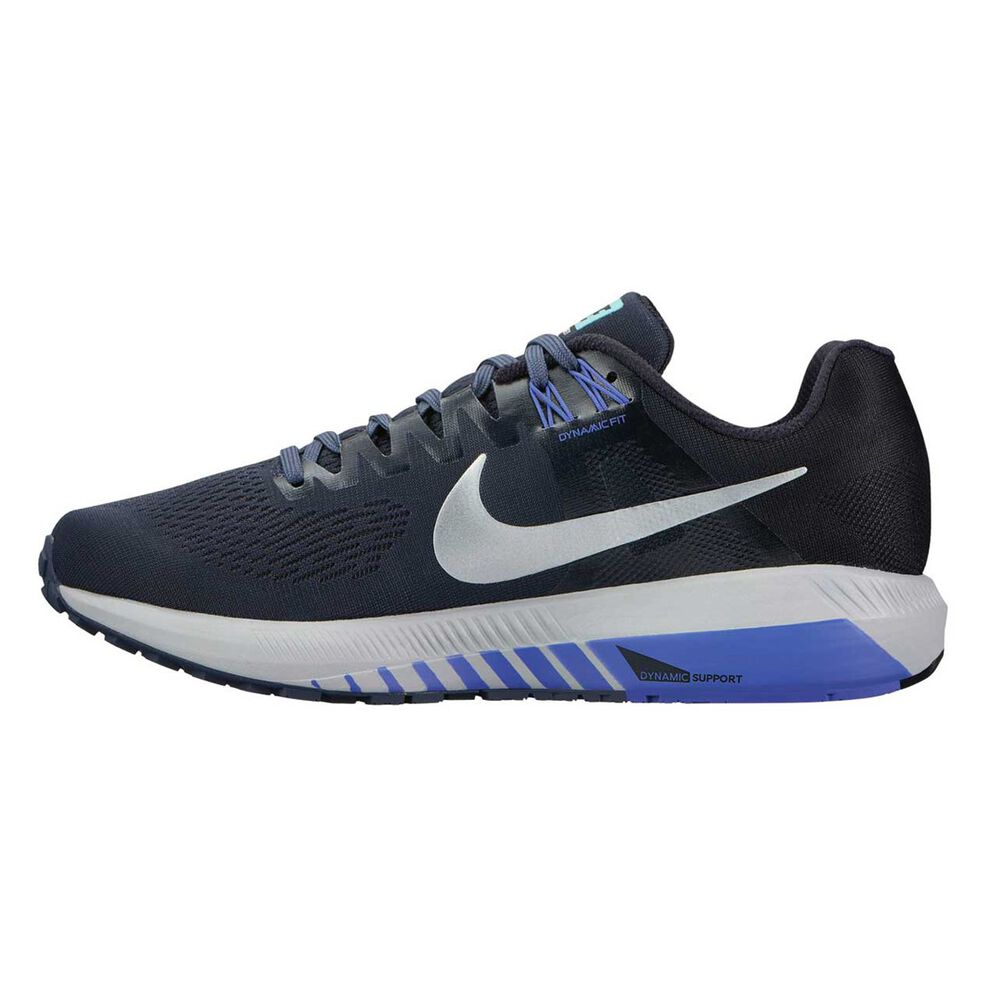 Nike Air Zoom Structure 21 Womens Running Shoes Blue   Silver US 6.5 ... 5fa6a907ad98a
